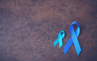 Colon cancer awareness ribbons
